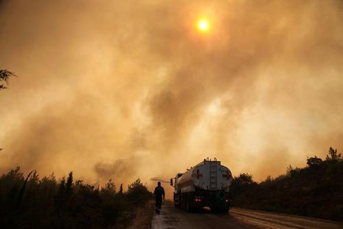 آتش سوزی جنگلی گسترده در ترکیه/ رویترز و آسوشیتدپرس