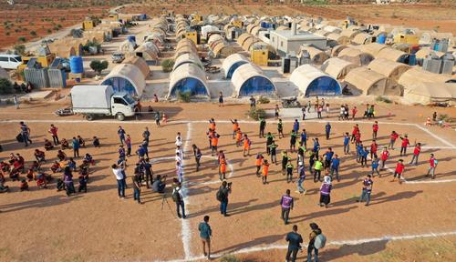 المپیک چادر 2020 در استان ادلب سوریه/عکس ها: خبرگزاری فرانسه