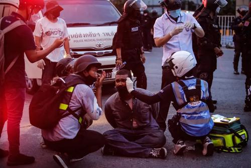 ادامه تظاهرات در شهر بانکوک تایلند در اعتراض به