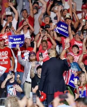 سخنرانی ترامپ در جمع هوادارانش در ایالت آلاباما آمریکا/ رویترز