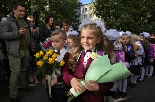 جشن نخستین روز بازگشایی مدارس در شهر