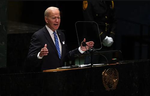 سخنرانی جو بایدن رییس جمهوری آمریکا در نشست سالانه مجمع عمومی ملل متحد در نیویورک/ UPI