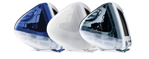 رایانه رومیزی مک:رایانه رومیزی مک دارای بدنه ای گرد و بزرگ بود. این محصول در سال 2001 و با رنگ هایی جذاب روانه بازار شد.